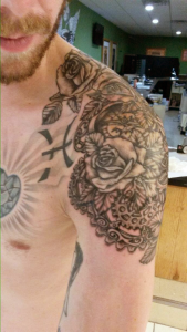 Shoulder Roses and Gears