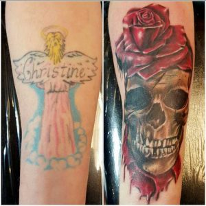 Coverup: Angel to Skull and Rose