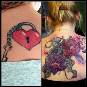 Coverup: Heart Lock to Floral Backpiece