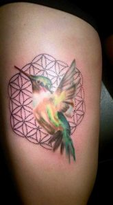 Sacred Geometry Hummingbird