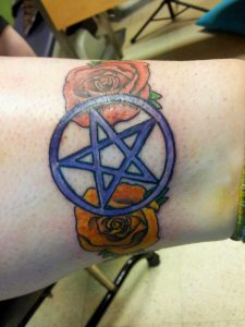 Pentagram and Roses